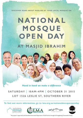 Mosque Open Day Masjid Ibrahim Sunday 1 November 2015