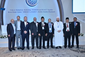 Australian Muslim leaders  with Turkish  government officials at the summit.