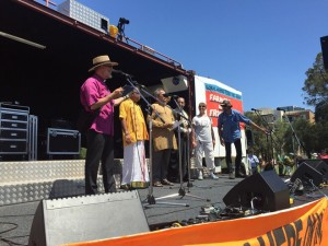 Faith leaders deliver speech at rally