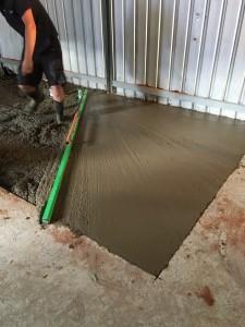 Concrete laid