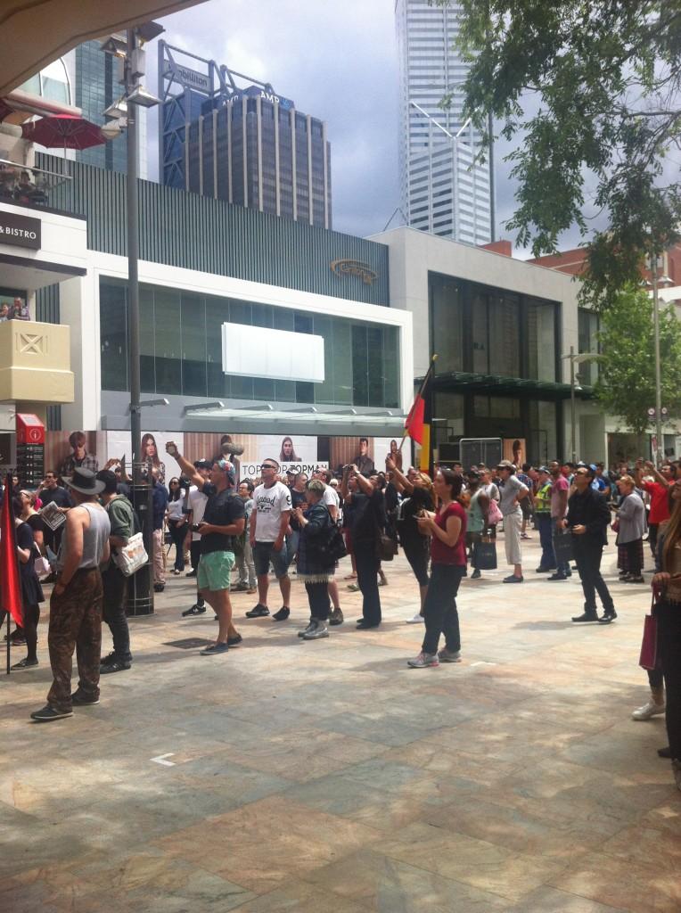 Australians taking photos of anti- Muslim bogans Photography: ICWA